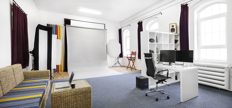 Fotograficky atelier fotografa Romana Mlejnka v centru Prahy.