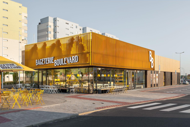 Architektonicka fotografie Bageterie Boulevard od architektu Labor13 fotograf Roman Mlejnek