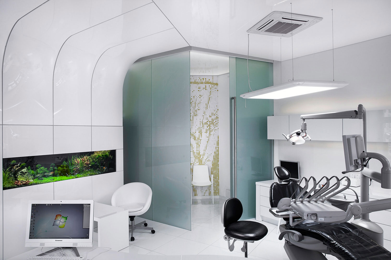 Dentalni ordinace v Uherskem Hradisti s interierem Barrisol, fotograf Roman Mlejnek