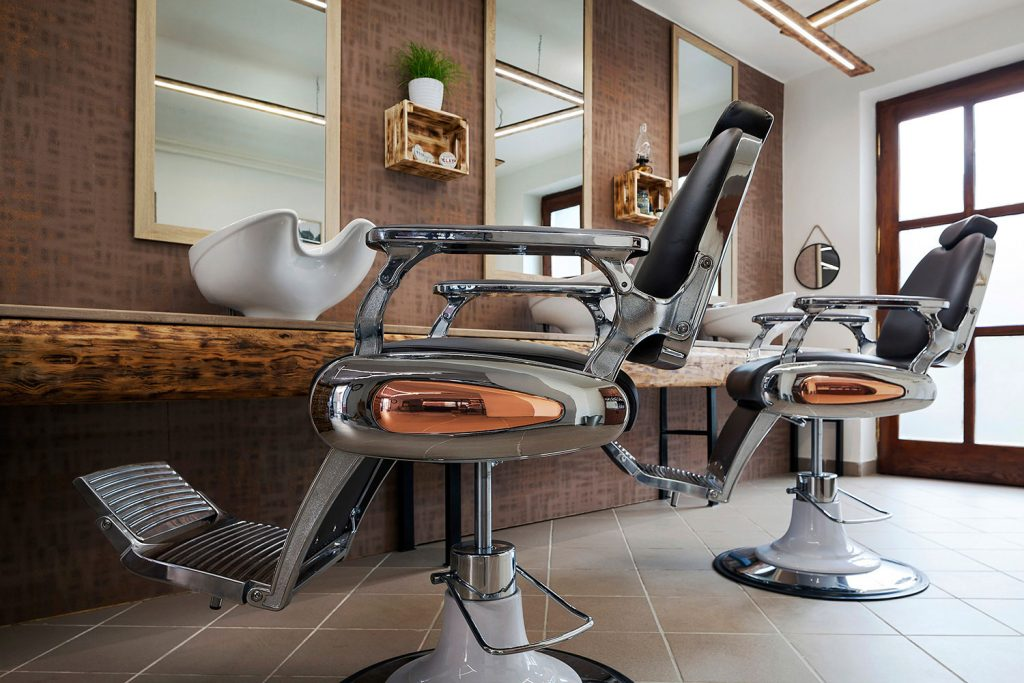 Barber shop Kolinska, fotografie interieru Roman Mlejnek