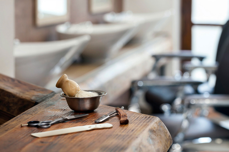 Interiery barber shopu Kolinska, fotograf Roman Mlejnek
