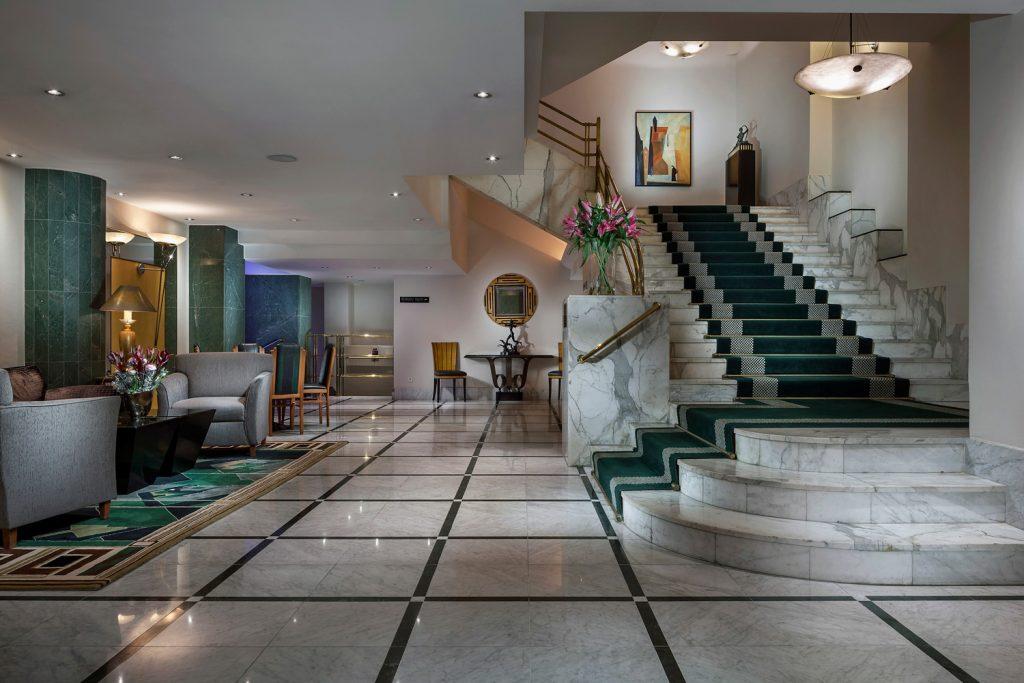 Interiery hotelu Alcron Praha, fotograf Roman Mlejnek