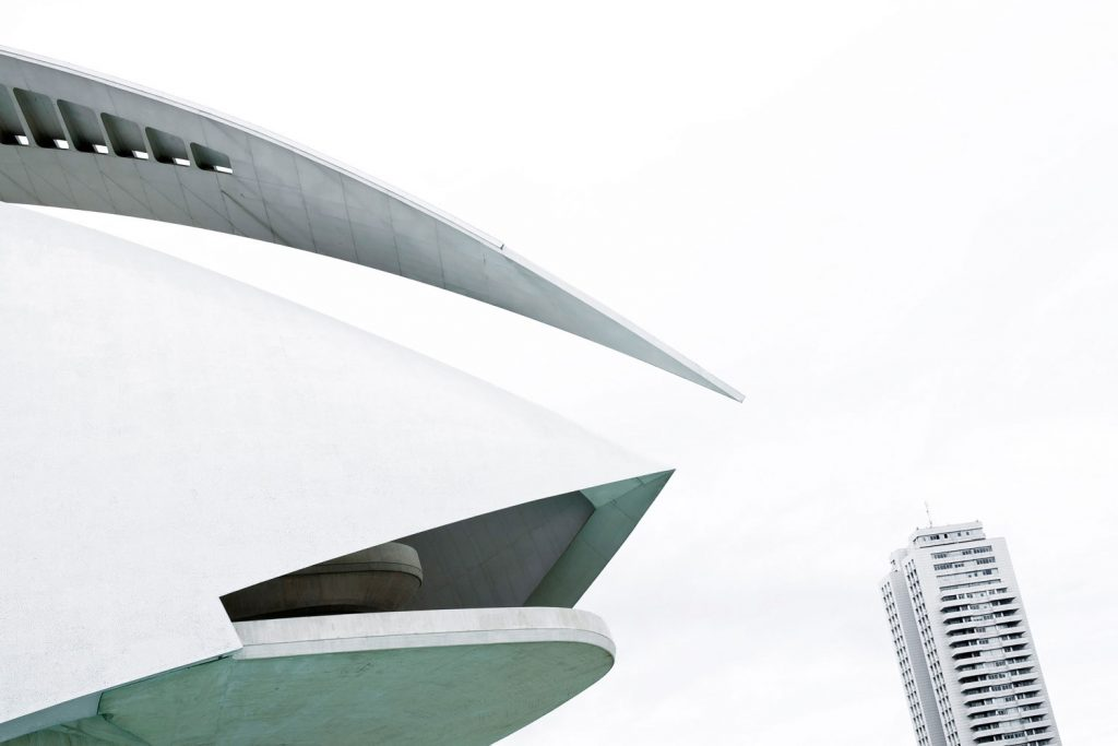Fotografie exterieru opery ve Valencii Palau de les Arts Reina Sofia, fotograf Roman Mlejnek