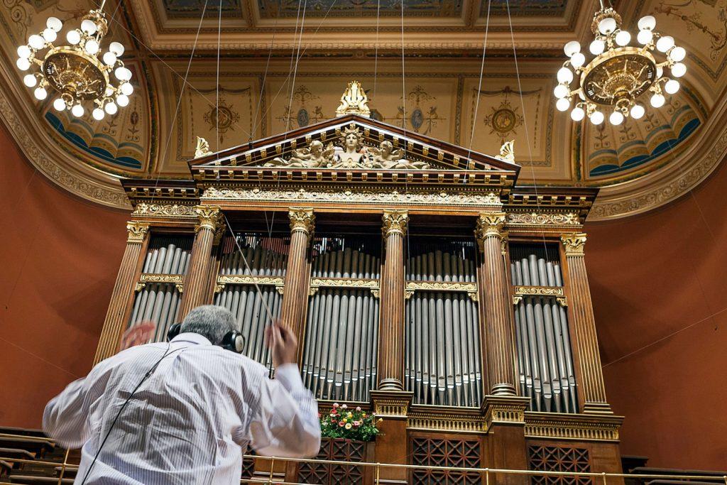 Reportazni fotografie z koncertni sine Rudolfinum, fotograf Roman Mlejnek