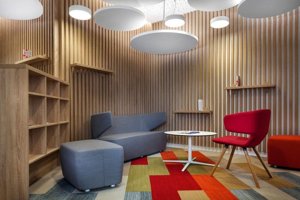 Interiery firmy Saint Gobain od architektu Labor13, fotograf Roman Mlejnek
