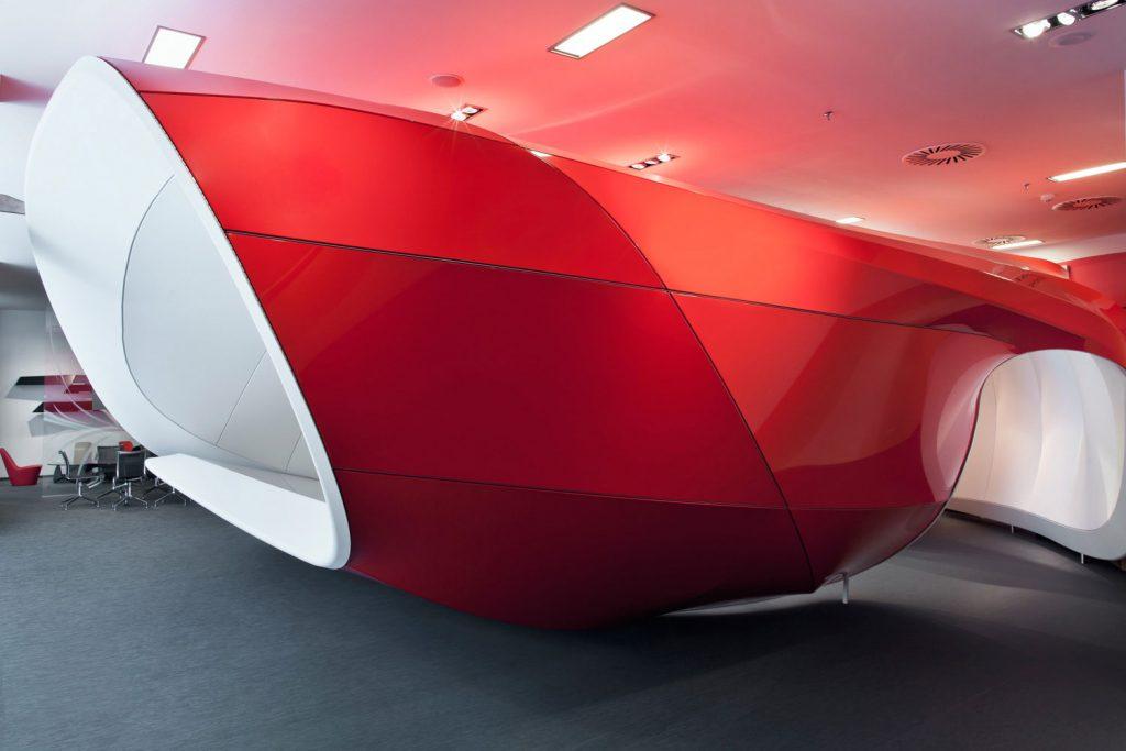 Interiery Vodafone, system Barrisol, fotograf Roaman Mlejnek