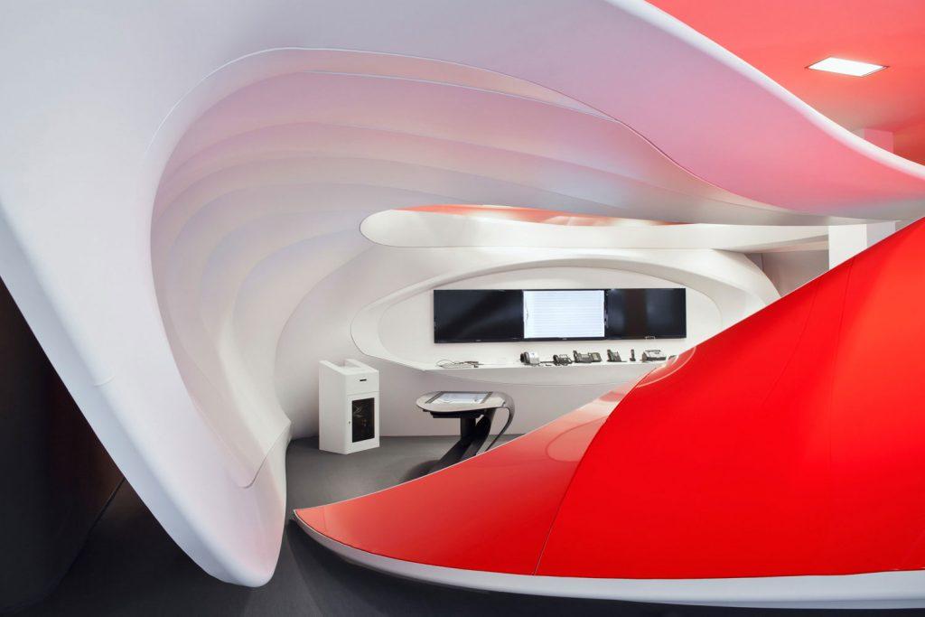 Interiery Vodafone se systemem Barrisol, fotograf Roman Mlejnek