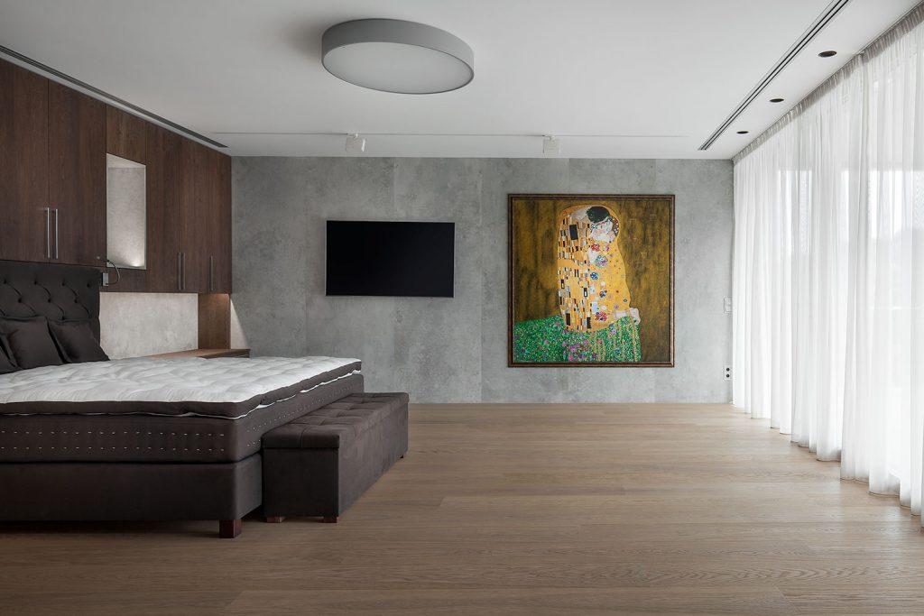 designova loznice ve vile