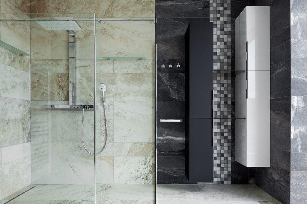 interier koupelny ve vile