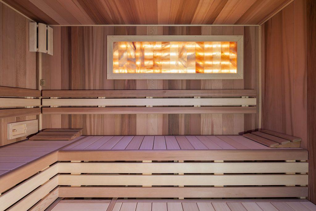 interierova fotografie sauny