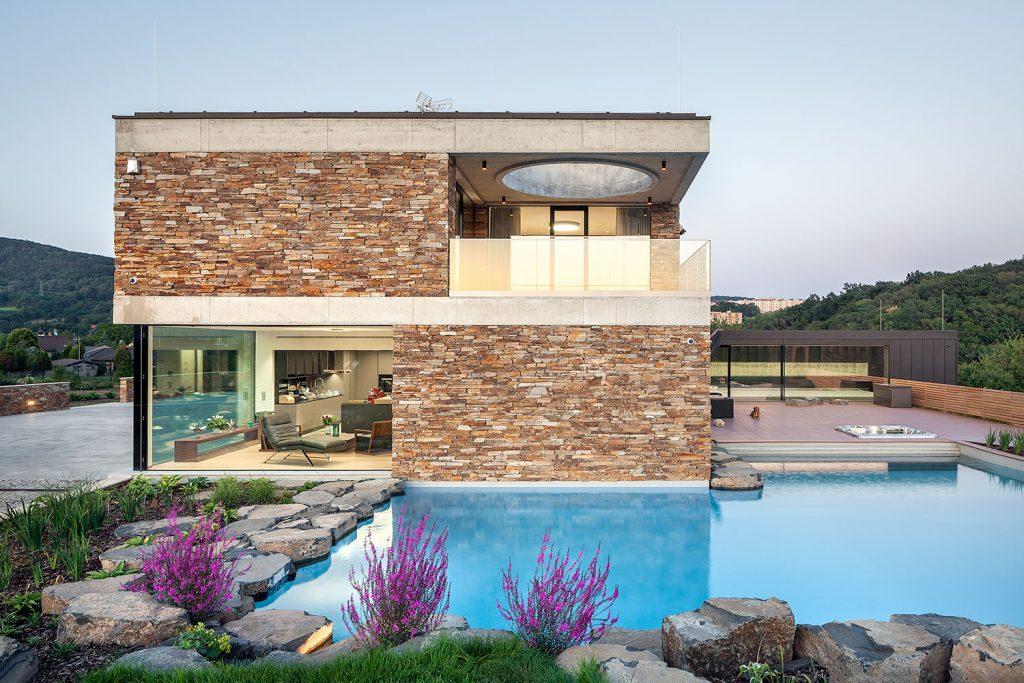 bazen rodinneho domu, fotografie architektury