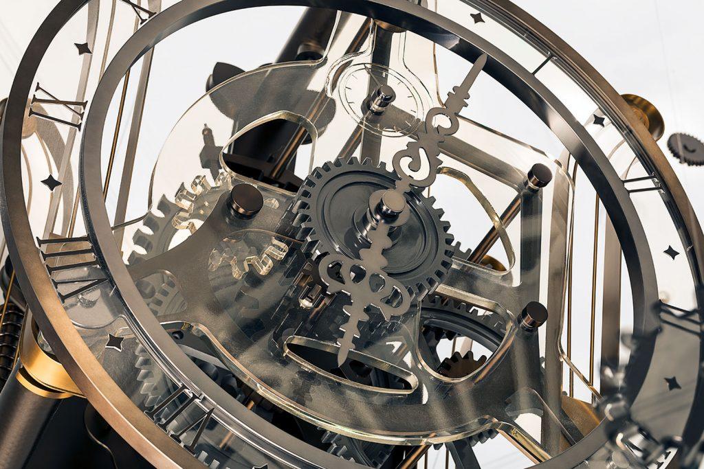Great Scotland Yard Hotel clock machine