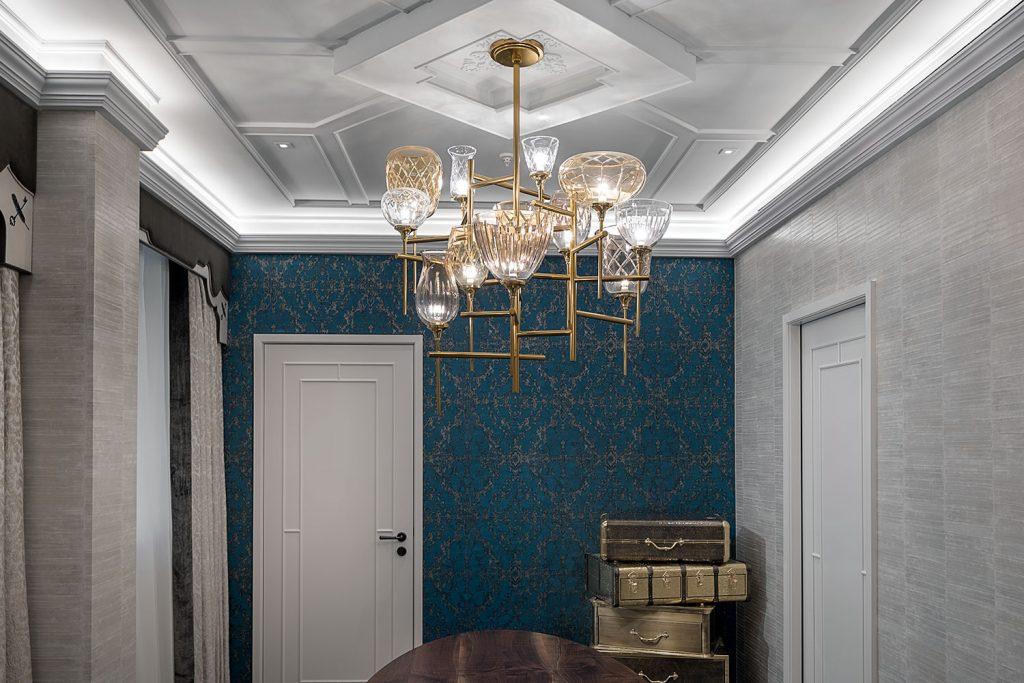 Owner suite in Great Scotland Yard Hotel, chandelier by Preciosa Lighting