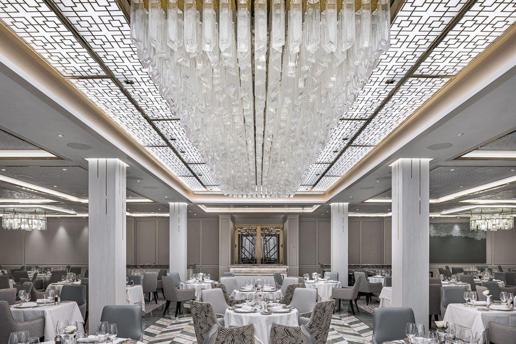 Custom lighting form Preciosa on Regent's ship