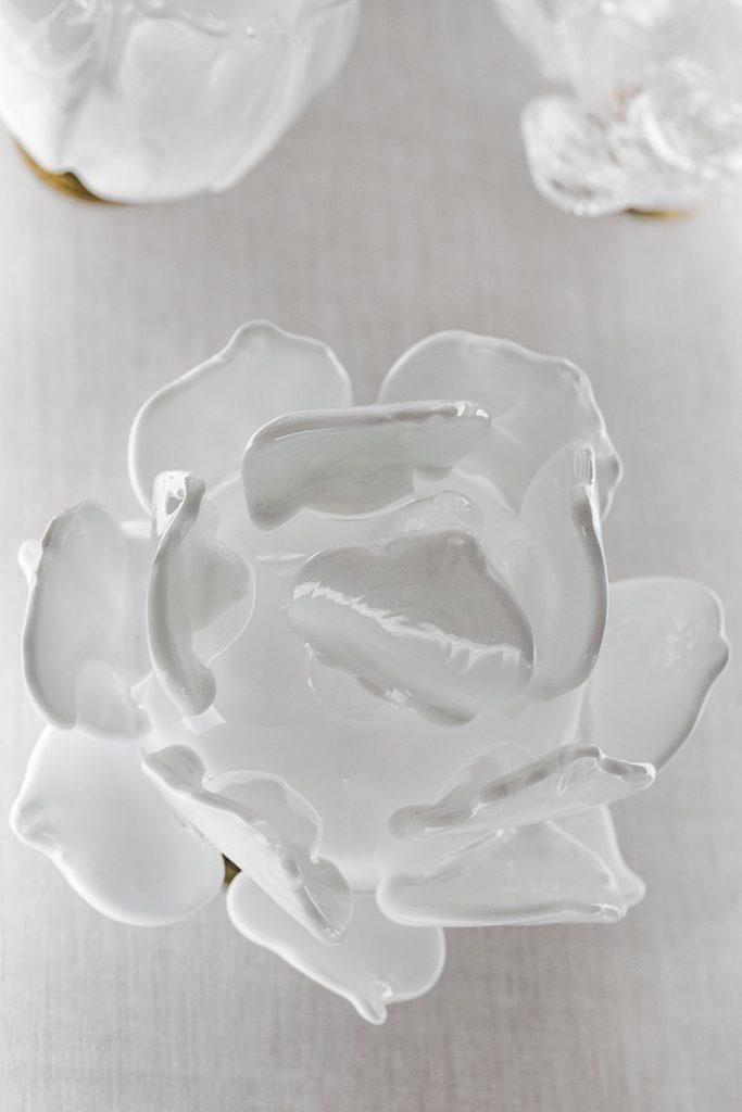 Custom made glass flower fro Crystal valley