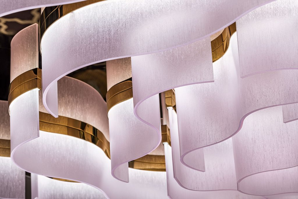 Detail of hand made chandelier Preciosa