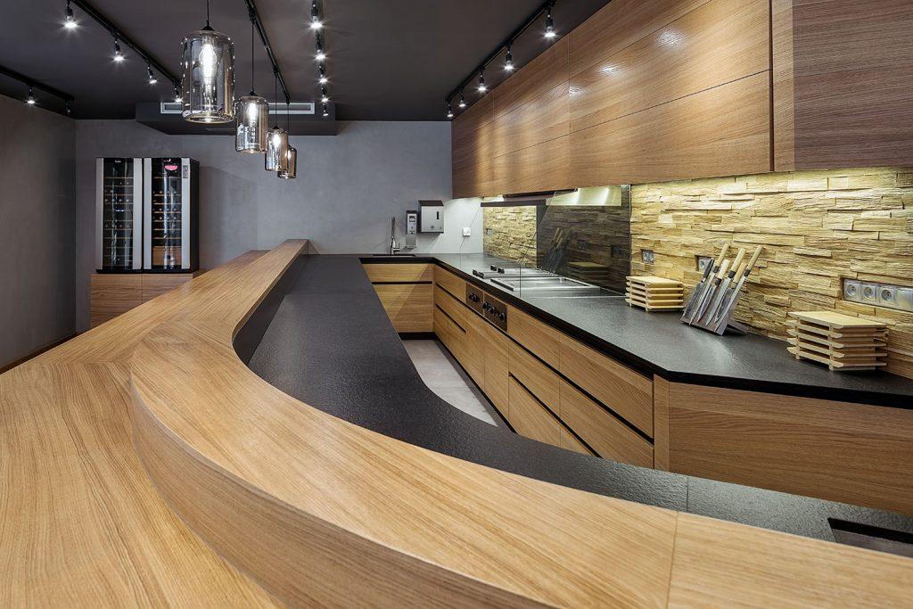 Kuchyn od Interiery Lapka v sushi restauraci