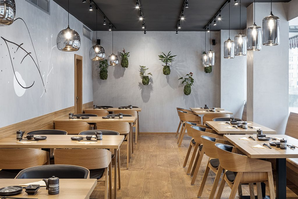 Interiery restaurace fotograf Roman Mlejnek